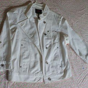 Adriano Goldschmied white denim jacket